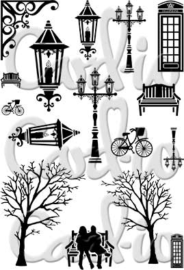 Vintage Christmas Clear Stamp Set Create A Real Dickensian Scene